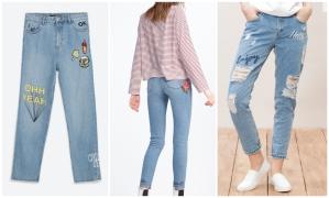 Jeans de Zara y Stradivarius