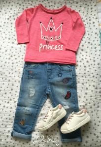 Look completo Baby Silvia - Jeans bordados