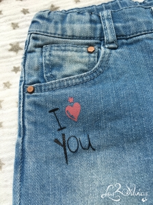 Detalle Jeans I LOVE YOU