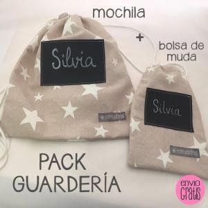 Conjunto mochila y bolsa de muda - Mi Muselina (23,95€)