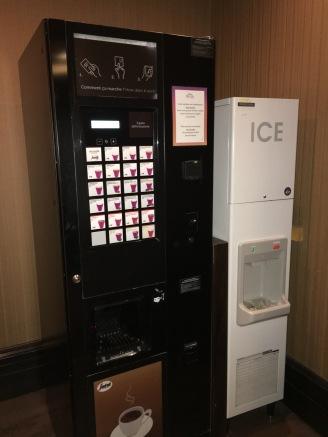 Maquina de café en el Hotel Sequoia